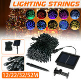 12M/22M/32M/52M Outdoor LED Solar String Light 8 Modes Waterproof Home Decorative Lawn Lamp Christmas Decorations Clearance Christmas Lights