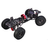 Carrocería CNC Aluminio Metal Carbono para 1/10 Crawler AXIAL SCX10 Rc Car Chassis 313mm Wheelbase