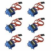 6PCS SG90 Mini Analog Gear Micro Servo 9g Til RC Helikopter