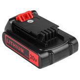 20V Li-Ion Replacement Bateria 2,5Ah Recarregável Power Tool Bateria para Black & Decker LXB2040 Power Tool