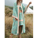 Summer Beach Floral Long Cardigans