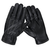 1 Pair Men Women Winter Gloves PU Leather Touchscreen Warm Windproof Waterproof Sport Golves Ski Cycling Bike Motorcycle