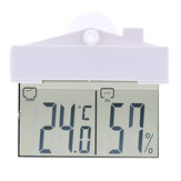 TS - H220 Mini LCD Display Digital Thermometer For indoor Outdoor Use Sucker Wall Hanging Temperature Hygrometer