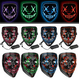 Halloween 4-Modes luce a led El Wire Maschera Up Funny Maschera The Purge Election Year Grande Cosplay Maschera