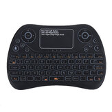 S913 2.4G Sem Fio Colorful Backlit Inglês Mini Touchpad Teclado Air Mouse Airmouse para TV Caixa PC Smart TV