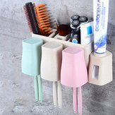 Auto Automatic Toothpaste Dispenser 8 Toothbrush Holder Cup