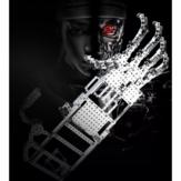 822 sztuk zmontowany metalowy model klocków budowlanych zabawka dla dorosłych chłopiec zabawka edukacyjna manipulator