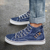 Mulheres Denim Confortável Wearable Casual Sports High Top Flats