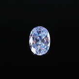 18*25mm White Zircon Sapphire Diamond Oval Cut Loose Gemstones AAA Craft Decorations