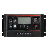 40A/50A/60A 12V/24V Solar Panel Charger Controller Battery Regulator Dual USB LCD Display