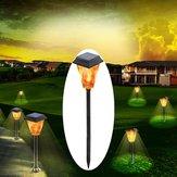 3W solaire alimenté 12 LED flamme pelouse lumière extérieure lampe de torche de jardin étanche IP65