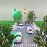Semaforo stradale 5V Modello HO OO Scala Segnale di svolta LED Modello Train Architecture Street