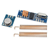 433MHz 100M Wireless Transceiver Module Kit Transmitter + Receiver + 2pcs Copper Spring Antenna