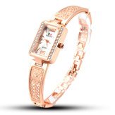SOXY 0123 Rose Gold Rectangle Dial Ladies Bracelet Watch