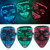 Nieuwe Halloween Party Maskers Glow LED Maskers Light Up voor Festival Cosplay Kostuum Grappige Verkiezing DJ Party Decor Horror Rave Masker