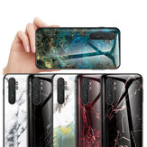 Bakeey for Xiaomi Mi Note 10 Lite Case Marble Pattern Colorful Tempered Glass Shockproof Scratch Resistant Protective Case Non-original