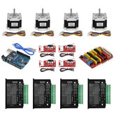 Kit CNC TWO TREES® UNO com Controlador + Blindagem + Nema 23 Stepper Motors + TB6600 + Chaves Limitadas