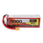 ZOP Power 14.8V 5000mAh 60C 4S Spina Lipo Batteria XT60 per RC Racing Drone