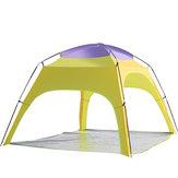 al aire libre 3-4 Persons cámping Tienda automática apertura Playa UV lluvia sombrilla cubierta con alfombra inferior