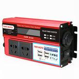 4000 W DC 12 V / 24 V - AC 220 V tápegység Digitálisan módosított szinusz hullám 4 USB port 2 aljzat