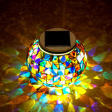 Tuin Solar Power Mosaic Glass Ball Kleurrijke LED Light Outdoor Waterproof Decoratie Lamp
