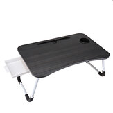 Laptop Table Stand with Small Drawer Portable Folding Desk Notebook Table Stand Lap Tray Bed for Children Student Home
