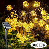 98.5FT 30M Outdoor 300LED solare Fairy String Light 8 modalità Patio Landscape Prato Impermeabile Garden Yard lampada