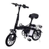 [EU Direct] Lamtwheel 12Ah 36V 350W 14 cali składany rower motorowerowy 35 km / h Maksymalna prędkość 30-35 km Zakres przebiegu Rower elektryczny