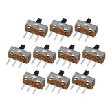 100pcs SS12d00G4 2 Gear 3 Pin Toggle Switch Slide Switch Interruptor On-Off Handle Length 4mm