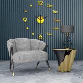3DDIY壁掛け時計装飾ステッカーミラーフレームレスDIY壁掛け時計キットホームリビングルーム寝室オフィス装飾用