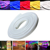 2M 2835 LED Flexible Neon Rope Strip Light Xmas Outdoor Waterproof 110V