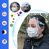 5Pcs PVC Transparent Breathable Splash-proof Anti-spit Full Face Mask Face Shield For Children Adults