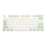 134 Chaves Retro Milk Green Keycap Set Perfil XDA PBT Sublimation Keycaps para 61/64/87/108 Keys Mecânico Teclados
