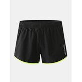 Pantalones cortos de tablero de secado rápido transpirable con cordón de malla deportiva para hombre