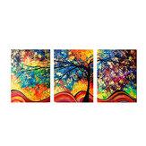 3Pcs Colorful Tree HD Impressão em tela Pinturas Impressão decorativa em parede Imagens de arte emolduradas / sem moldura Decorações de parede para escritório doméstico