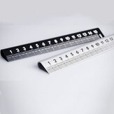 15cm 30° Ruler RULER 4.0 Double Sided Scale Ruler Measurements Metal Straight Ruler Measuring Drawing Template Tool School Office Supplies