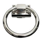 Нержавеющая сталь молоток выталкивает ручку тянуть кольца блестящее серебро для деревянного дверного кресла