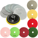 8pcs  4 Inch 50 to 3000 Grit Diamond Polishing Pads for Granite Stone Concrete Marble