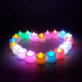 1 Adet Led Işık Mum Flameless Renkli Çay Mum Lamba Elektronik Mum Partisi Düğün Dekor