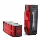 Пара LED Прямоугольный Стоп Стоп Turn Tail Lights Водонепроницаемы Красный для Грузовой автомобиль с прицепом Лодка
