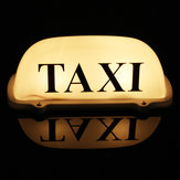 Taxi Magnetic Base Yellow LED Cab Taximeter Roof Top Sign Light Lamp White Box