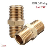 2Pcs 1/4 Brass Air BSP Tapper Hose Tail Airline Fitting male Quick Connector