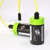 2Pcs ZNTER 1.5V 6000mAh USB Rechargeable D Size Battery Lithium Polymer Battery