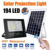 Motion Sensor Infrarrojos 194LED Solar Aplique de pared Impermeable Control remoto para jardín Lámpara para uso doméstico al aire libre