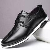 Men Wygodne skórzane buty z mikrofibry Soft Podeszwa antypoślizgowe buty biznesowe