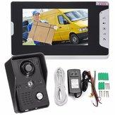 7inch LCD Video Kapı Zili Interkom IR Kamera Monitör Gece Görüş Ev Güvenlik
