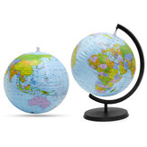 30cm Inflatable World Globe Earth Map Rotating Stand Geography Educational Map Beach Ball Kids Toy Desktop Decorations