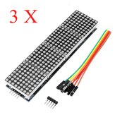 3Pcs MAX7219 Dot Matrix Module 4-in-1 Display Screen