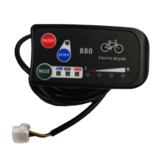 LED880 36V 48V Bicicleta eléctrica Pantalla Meater E bike Controller Scooter Panel Parts