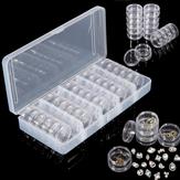 25pcs vaso vuoto Box Nail gemme decorazione di strass contenitore piccola bottiglia elettronico ricambi Organizer